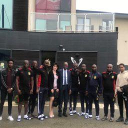 Konsul Honorowy Mali w Polsce Pan Mamadou Konaté powitał kadrę trenerską U-20 Mali